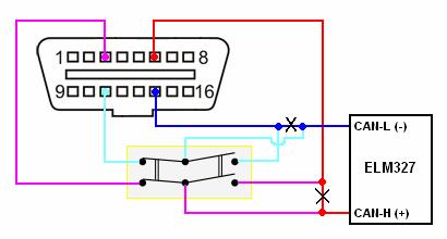 Адаптер elm 327 схема